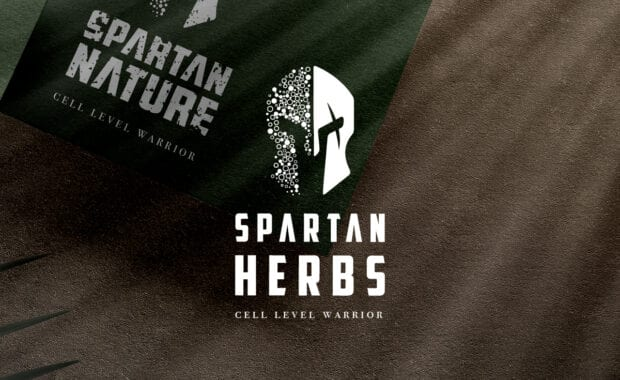 Spartan Herbs Logo Design and Packaging